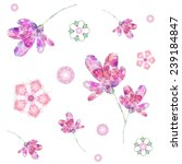 beautiful pattern with flower.... | Shutterstock .eps vector #239184847