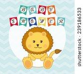 baby shower design | Shutterstock .eps vector #239186533
