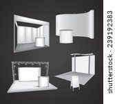 set of blank exhibition display ... | Shutterstock .eps vector #239192383