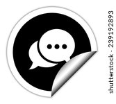 chat   black  vector icon.... | Shutterstock .eps vector #239192893