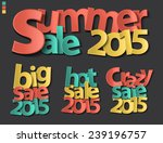 sale tag 2015 folding paper... | Shutterstock .eps vector #239196757