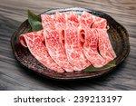 beef slice | Shutterstock . vector #239213197