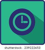 flat  time clock  vector icon | Shutterstock .eps vector #239222653