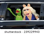 """Small photo of LOS ANGELES - MAR 11: Kermit the Frog, Miss Piggy at the """"Muppets Most Wanted"""" - Los Angeles Premiere at the El Capitan Theater on March 11, 2014 in Los Angeles, CA"""