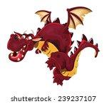 Red Dragon In Flight.