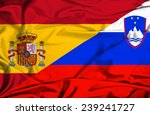 waving flag of slovenia and... | Shutterstock . vector #239241727