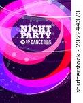 night party vector | Shutterstock .eps vector #239244373