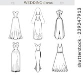 wedding dress set. medieval