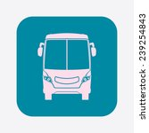 bus icon. schoolbus simbol. | Shutterstock .eps vector #239254843