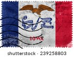 iowa state flag   old postage... | Shutterstock . vector #239258803
