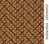 geometric brown circle patterns.... | Shutterstock .eps vector #239263423