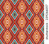 cute tribal geometric pattern... | Shutterstock .eps vector #239266057