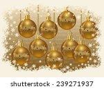 christmas sale golden card ... | Shutterstock .eps vector #239271937