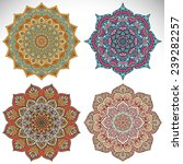 mandala. vintage decorative... | Shutterstock .eps vector #239282257