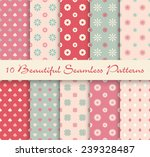 collection beautiful seamless... | Shutterstock .eps vector #239328487