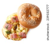 Bagel With Scrambled Eggs And...