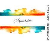 watercolor vector splash...   Shutterstock .eps vector #239351173