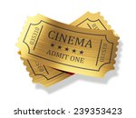 3d Render Of Golden Cinema...