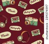 seamless pattern in retro style.... | Shutterstock .eps vector #239374597