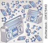 vector doodles music design   Shutterstock .eps vector #239375443