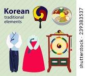 set of korean traditional... | Shutterstock .eps vector #239383537