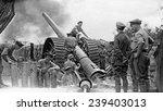 A British Heavy Gun In Action ...