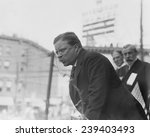 Small photo of Theodore Roosevelt speaking in Yonkers, NY on October 17, 1910.