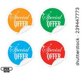 special offer colorful labels...   Shutterstock .eps vector #239447773