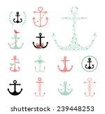 set of anchors symbols on white ... | Shutterstock .eps vector #239448253