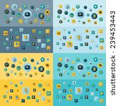 flat concept  design with... | Shutterstock .eps vector #239453443