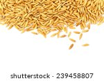 Rice Grains Isolated On White...