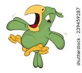 green parrot cartoon  | Shutterstock .eps vector #239459287