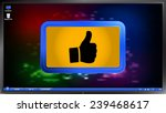 hand with thumb up icon on the... | Shutterstock .eps vector #239468617