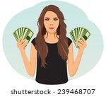 smiling businesswoman is...   Shutterstock .eps vector #239468707