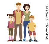 father and mother  son and... | Shutterstock . vector #239495443
