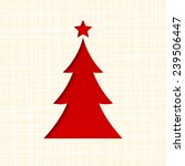 christmas card with fir tree.... | Shutterstock .eps vector #239506447