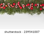 pine green  candy canes  apples ... | Shutterstock . vector #239541007