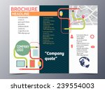 mouse and stationary brochure... | Shutterstock .eps vector #239554003