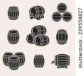 Barrels Set. Vector
