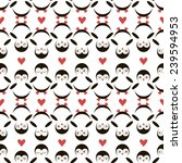 seamless pattern penguins on... | Shutterstock .eps vector #239594953