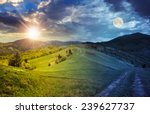 day and night collage landscape.... | Shutterstock . vector #239627737