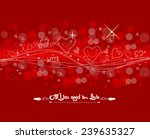 valentine with fly hearts... | Shutterstock .eps vector #239635327