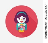 wedding flower girl flat icon...   Shutterstock .eps vector #239639527
