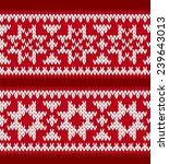 two knitted patterns with... | Shutterstock .eps vector #239643013