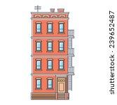 vector illustration   new york... | Shutterstock .eps vector #239652487