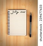 to do list for 2015 july | Shutterstock . vector #239677633
