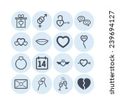 set of simple lovely icons for... | Shutterstock .eps vector #239694127