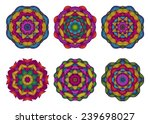 set of mandalas. beautiful hand ... | Shutterstock .eps vector #239698027