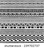 aztec tribal seamless black and ... | Shutterstock .eps vector #239702737