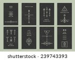 Set Of Vector Trendy Cards Wit...